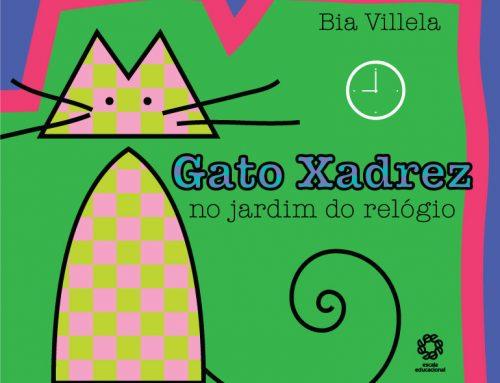 Gato Xadrez no jardim do relógio